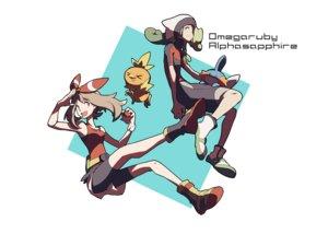 Rating: Safe Score: 42 Tags: domu_(hamadura) haruka_(pokemon) male mudkip pokemon torchic treecko yuuki_(pokemon) User: FormX
