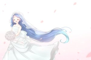 Rating: Safe Score: 32 Tags: blue_hair flowers kantai_collection long_hair tagme_(artist) tagme_(character) tears wedding_attire white User: humanpinka