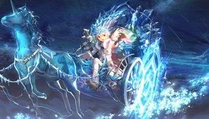 Rating: Safe Score: 109 Tags: animal blue elsword elsword_(character) horse magic red_eyes scorpion5050 stars tiara unicorn weapon white_hair User: Flandre93