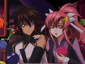Rating: Safe Score: 9 Tags: gundam_seed gundam_seed_destiny kira_yamato lacus_clyne mobile_suit_gundam User: 秀悟