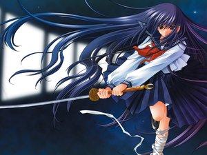 Rating: Safe Score: 31 Tags: azuma_hazuki bandage carnelian long_hair school_uniform sword weapon yami_to_boushi_to_hon_no_tabibito User: 秀悟