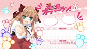 Rating: Safe Score: 45 Tags: aqua_eyes blush brown_hair mayoi_neko_overrun! ribbons serizawa_fumino User: vitoxela
