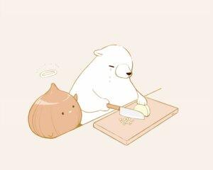 Rating: Safe Score: 16 Tags: angel animal bear bird chai_(artist) crying food halo monochrome nobody original signed tears User: otaku_emmy