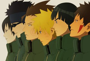 Rating: Safe Score: 58 Tags: aburame_shino akimichi_choji blonde_hair brown_hair fang group headband inuzuka_kiba male naruto naruto_shippuden rock_lee sai uzumaki_naruto yuhka User: STORM