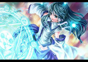 Rating: Safe Score: 39 Tags: green_hair kochiya_sanae touhou User: Yuna
