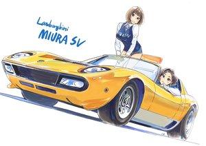 Rating: Safe Score: 46 Tags: 2girls brown_eyes brown_hair car carina_(xiaowoo) ishikawa_purin kishi_mieko onna_shunin_kishi_mieko short_hair shorts User: RyuZU