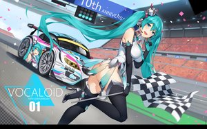 Rating: Questionable Score: 74 Tags: aqua_eyes aqua_hair ass bodysuit breasts car crown elbow_gloves gloves hatsune_miku headphones long_hair microphone skintight thighhighs tie vocaloid yykuaixian User: RyuZU