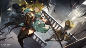 Rating: Safe Score: 156 Tags: animal_ears atalanta_(fate) blonde_hair bow_(weapon) chiron fate/apocrypha fate_(series) fate/stay_night gloves long_hair male swd3e2 thighhighs weapon User: Flandre93