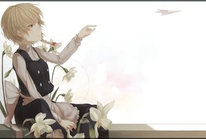 Rating: Safe Score: 76 Tags: blonde_hair blue_eyes blush braids flowers kirisame_marisa paper short_hair touhou white yuu-rin User: MissBMoon