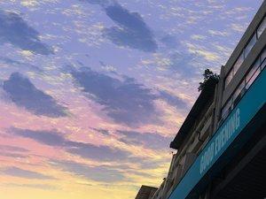 Rating: Safe Score: 12 Tags: building clouds mclelun original reflection sky User: RyuZU