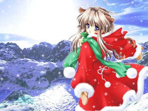 Rating: Safe Score: 26 Tags: animal_ears bell blue_eyes blush carnelian catgirl christmas gloves scarf snow winter User: Oyashiro-sama