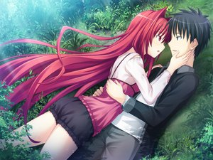 Rating: Safe Score: 72 Tags: escu:de game_cg gurenka kuon_(gurenka) long_hair nekonyan red_eyes red_hair tagme User: ホタル