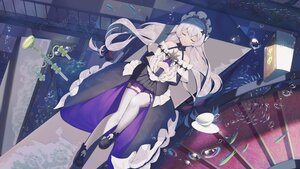 Rating: Safe Score: 68 Tags: book bubbles dress drink gray_hair headband honkai_impact jliaan long_hair paper sleeping tagme_(character) thighhighs underwater water User: BattlequeenYume