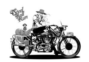 Rating: Safe Score: 23 Tags: all_male boots goggles gyro_zeppeli hat jojo_no_kimyou_na_bouken long_hair male monochrome motorcycle seyo teddy_bear User: noitis