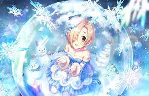 Rating: Safe Score: 36 Tags: annin_doufu ball blonde_hair brown_eyes dress idolmaster idolmaster_cinderella_girls idolmaster_cinderella_girls_starlight_stage necklace pantyhose shirasaka_koume short_hair snow snowman tree winter User: otaku_emmy