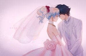 Rating: Safe Score: 91 Tags: dress mosako nia simon tengen_toppa_gurren_lagann wedding wedding_attire User: mattiasc02
