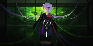 Rating: Safe Score: 43 Tags: green hoodie japanese_clothes kitsune_(kazenouta) long_hair purple_eyes purple_hair skirt thighhighs vocaloid voiceroid yuzuki_yukari zettai_ryouiki User: FormX