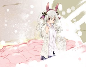 Rating: Safe Score: 97 Tags: abe_kanari brown_eyes bunny_ears bunnygirl tagme white_hair User: opai