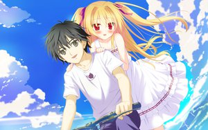 Rating: Safe Score: 31 Tags: black_hair blonde_hair brown_eyes clouds game_cg irotoridori_no_sekai kanoue_yuuma long_hair nikaidou_shinku red_eyes ribbons shida_kazuhiro shirt short_hair twintails windmill User: Maboroshi