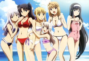 Rating: Safe Score: 145 Tags: amisaki_ryouko arcueid_brunestud bikini blush caren_ortensia carnival_phantasm cleavage crossover fate/stay_night illyasviel_von_einzbern navel saber shingetsutan_tsukihime swimsuit tohno_akiha tohsaka_rin User: Wiresetc