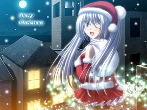 Rating: Safe Score: 25 Tags: christmas moon night santa_costume wink User: acucar11