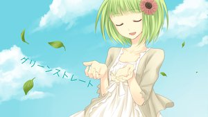 Rating: Safe Score: 57 Tags: clouds flowers green_hair gumi leaves short_hair sky vocaloid yayoi_(egoistic_realism) User: HawthorneKitty