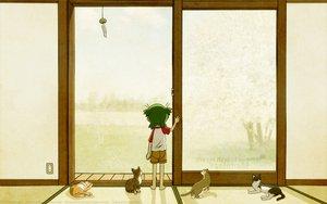 Rating: Safe Score: 16 Tags: animal azuma_kiyohiko cat koiwai_yotsuba summer vector yotsubato! User: Oyashiro-sama