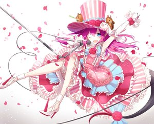 Rating: Safe Score: 32 Tags: aqua_eyes elizabeth_bathory_(fate) fang fate/grand_order fate_(series) hat lolita_fashion long_hair microphone petals pink_hair pointed_ears sena_tea29 tail wink User: otaku_emmy