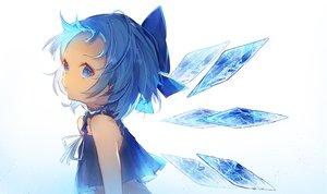 Rating: Safe Score: 33 Tags: aqua_eyes aqua_hair cirno dress fairy loli shiromi short_hair touhou white wings User: RyuZU