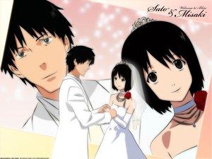 Rating: Safe Score: 7 Tags: nakahara_misaki nhk_ni_youkoso satou_tatsuhiro wedding wedding_attire User: Oyashiro-sama