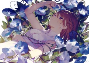 Rating: Safe Score: 76 Tags: achiki braids brown_hair close dress flowers original purple_eyes shade short_hair signed summer_dress User: BattlequeenYume
