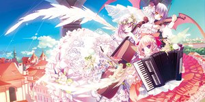 Rating: Safe Score: 48 Tags: blue_hallelujah dress fairy instrument tagme violin wings User: opai