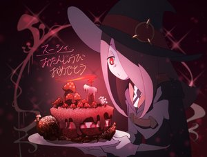 Rating: Safe Score: 31 Tags: cake chihiri dark food hat hoodie little_witch_academia long_hair pink_hair red_eyes skull sucy_manbavaran witch witch_hat User: otaku_emmy