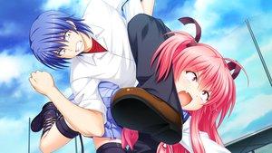 Rating: Safe Score: 15 Tags: angel_beats! game_cg hinata_hideki key na-ga yui_(angel_beats!) User: Tensa