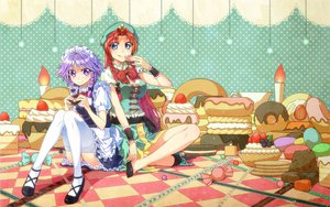 Rating: Questionable Score: 51 Tags: hong_meiling izayoi_sakuya tarou touhou User: w7382010