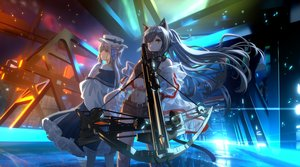 Rating: Safe Score: 47 Tags: animal_ears arknights bow_(weapon) catgirl ceylon_(arknights) industrial lmf13007102 long_hair schwarz_(arknights) see_through weapon User: Dreista