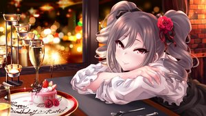 Rating: Safe Score: 27 Tags: cake chocolate drink fireworks flowers food fruit gray_hair idolmaster idolmaster_cinderella_girls kanzaki_ranko long_hair night red_eyes ribbons rose strawberry tdnd-96 twintails User: luckyluna