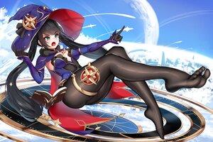 Rating: Safe Score: 4 Tags: damao_yu genshin_impact hat mona_megistus moon pantyhose witch_hat User: FormX