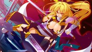 Rating: Safe Score: 60 Tags: blonde_hair game_cg red_eyes sengoku_hime weapon User: Maboroshi