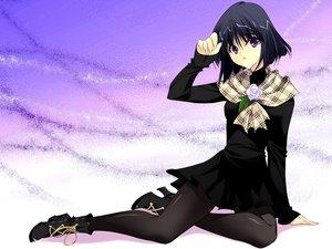 Rating: Safe Score: 28 Tags: black_hair boots dress flowers kobayashi_chisato pantyhose purple_eyes rose sailor_moon scarf short_hair tomoe_hotaru User: Kiho
