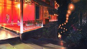 Rating: Safe Score: 99 Tags: favorite game_cg irotoridori_no_sekai japanese_clothes night scenic stairs User: Wiresetc