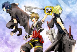 Rating: Safe Score: 58 Tags: cloud_strife final_fantasy final_fantasy_versus_xiii final_fantasy_vii final_fantasy_vii_advent_children kingdom_hearts noctis_lucis_caelum sora User: HawthorneKitty