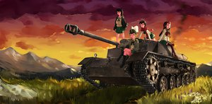 Rating: Safe Score: 48 Tags: black_hair caesar_(girls_und_panzer) combat_vehicle erwin girls_und_panzer grass group lordlessv2 oryou_(girls_und_panzer) saemonza seifuku thighhighs User: FormX