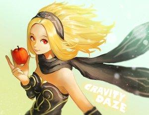 Rating: Safe Score: 61 Tags: apple blonde_hair food fruit gravity_daze hirokima kat_(gravity_daze) red_eyes scarf User: FormX