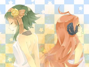 Rating: Questionable Score: 17 Tags: gumi miki_(vocaloid) vocaloid User: Shahid_MMIV