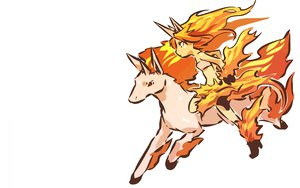 Rating: Safe Score: 55 Tags: anthropomorphism hitec moemon pokemon rapidash white User: Bad_Girl