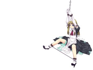 Rating: Safe Score: 60 Tags: blonde_hair blue_eyes bondage maid murakami_suigun white User: Oyashiro-sama