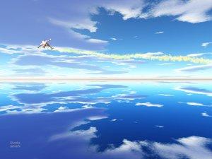 Rating: Safe Score: 32 Tags: acht_auber blue eureka_seven nirvash scenic sky User: HawthorneKitty