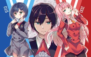 Rating: Safe Score: 21 Tags: darling_in_the_franxx hiro_(darling_in_the_franxx) ichigo_(darling_in_the_franxx) male tagme_(artist) zero_two User: luckyluna
