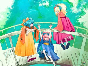 Rating: Safe Score: 20 Tags: beatmania beatmania_iidx blonde_hair blue_hair japanese_clothes long_hair pink_eyes pink_hair pop'n_music sigsig_(bemani) watermark User: 秀悟